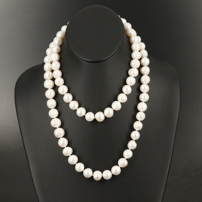 Up to 13.00 mm Semi-Baroque Pearl Necklace with 14K Clasp