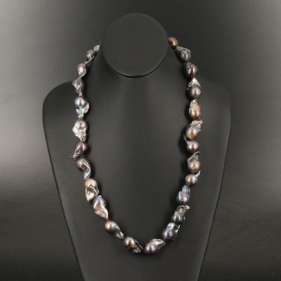 Up to 28.75 mm Baroque Pearl Necklace