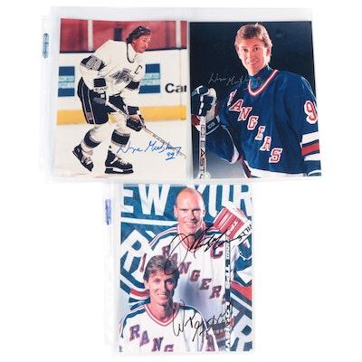 Wayne Gretzky and Mark Messier Signed NHL Hockey Photo Prints