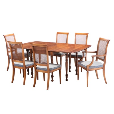 Thomasville Cherry Gate-Leg Table with Stanley Dining Chairs