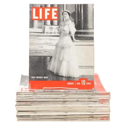 """LIFE"" Magazines Featuring Winston S. Churchill and Rita Hayworth, 1940s"