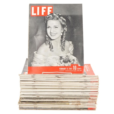 """""""Life"""" Magazine Collection Featuring Hollywood Party, 1940-1944"""
