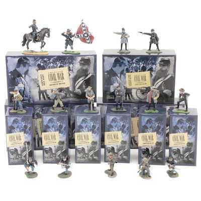"""W. Britain  """"Leaders In Blue and Gray"""" and Other American Civil War Figurines"""