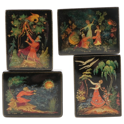 Ivan & the Firebird and Other Folklore and Fairytale Russian Lacquer Boxes