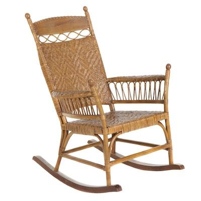 Victorian Style Wicker Rocking Chair