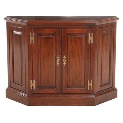 Henkel-Harris George III Style Mahogany Side Cabinet, dated 1969