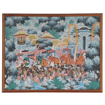 IDM Sekar Balinese Folk Art Gouache Painting