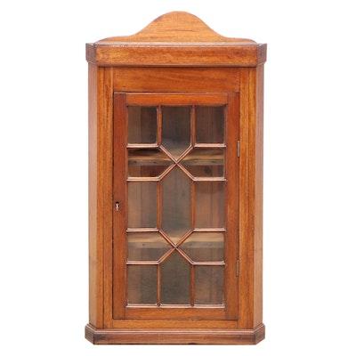 Federal Style Mahogany Hanging Corner Cabinet