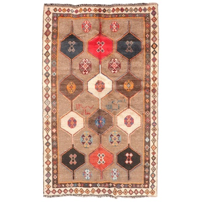 4'8 x 7'11 Hand-Knotted Persian Yalameh Area Rug, circa 1998