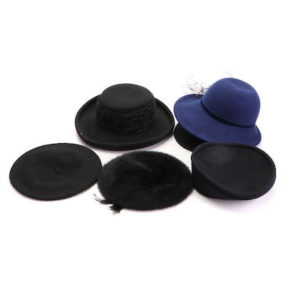 Kangol, Betmar, Scala, Parkhurst, and Other Berets and Brimmed Hats