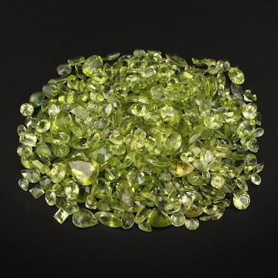 Loose 258.62 CTW Mixed Faceted Peridot