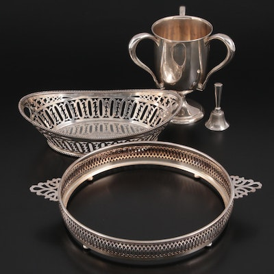 Dominick & Haff Sterling Silver Pierced Basket and Other Silver Tableware