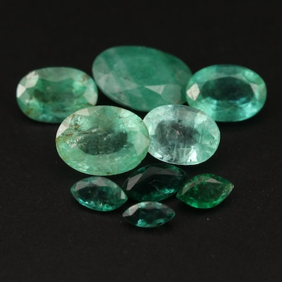 Loose 5.63 CTW Faceted Emerald