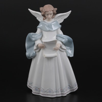 "Lladró ""Rejoice"" Porcelain Angel Figurine"