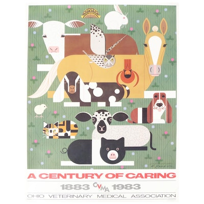 Ohio Veterinary Medical Association Poster After Charley Harper