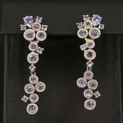 Sterling Tanzanite Earrings