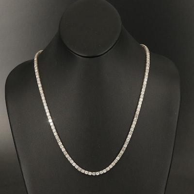 14K 29.03 CTW Diamond Rivière Necklace