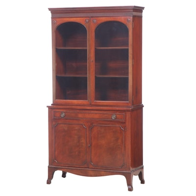 Federal Style Mahogany China Cabinet, Early to Mid 20th Century