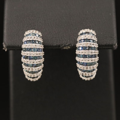 Sterling Sapphire and Topaz Earrings