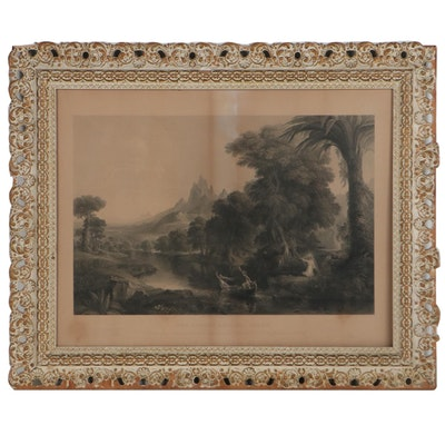 """James Smillie Engraving After Thomas Cole """"The Voyage of Life - Youth"""""""
