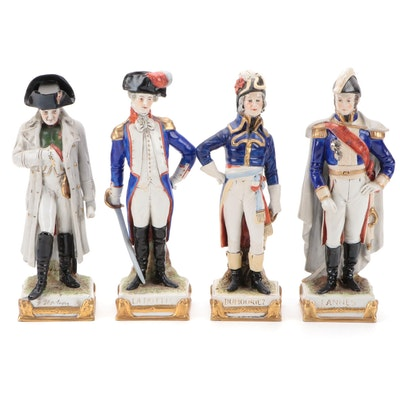 Kister Napoleon and Other  Porcelain Military Figurines, Early 20th-Century