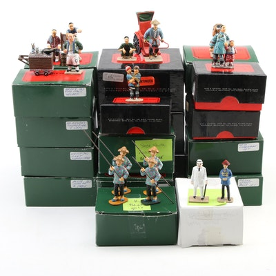 """King & Country """"Streets of Old Hong Kong"""" Hand-Painted Metal Figurines"""