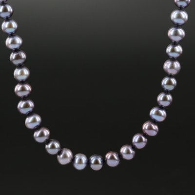 Oval Pearl Necklace