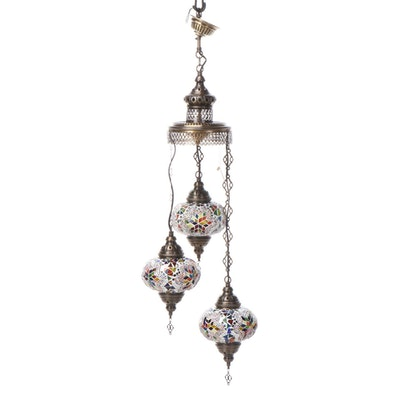 Persian Style Glass Mosaic Tile Chandelier