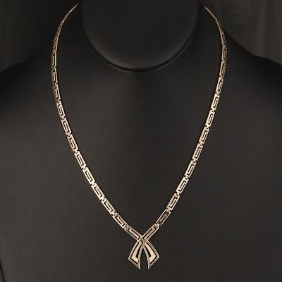 10K Fancy Link Necklace