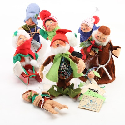 Annalee Mobilitee Winter and Christmas Themed Doll Figurines