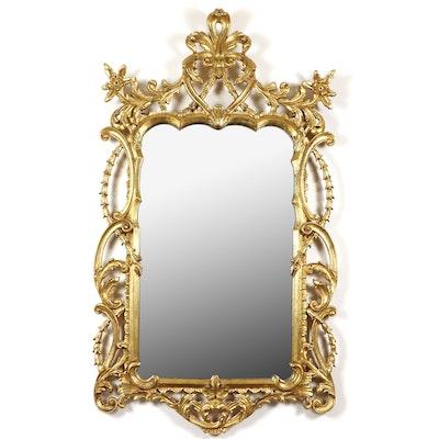 LaBarge Rococo Style Gilt Wood Wall Mirror
