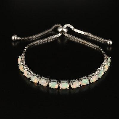 Sterling Opal Bolo Bracelet