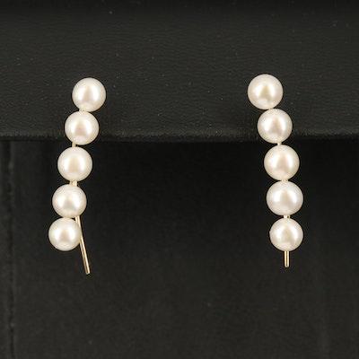 10K Pearl Climber/Earrings