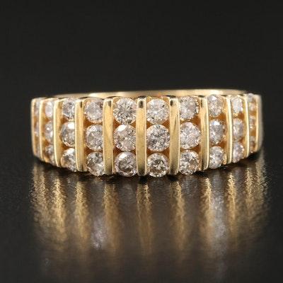 10K 1.03 CTW Diamond Panel Ring