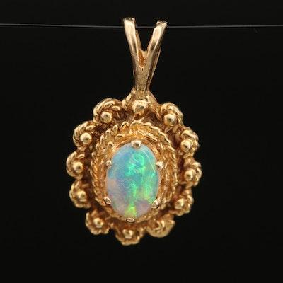 14K Opal Cannitille Pendant