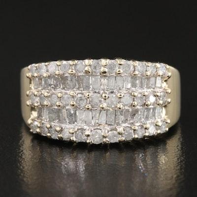 10K 1.02 CTW Diamond Row Ring