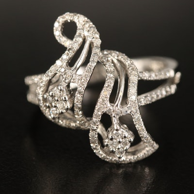 14K 0.62 CTW Diamond Openwork Ring