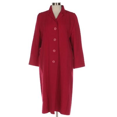Montaldo's Amicale Straight Coat in Fleurette Cashmere