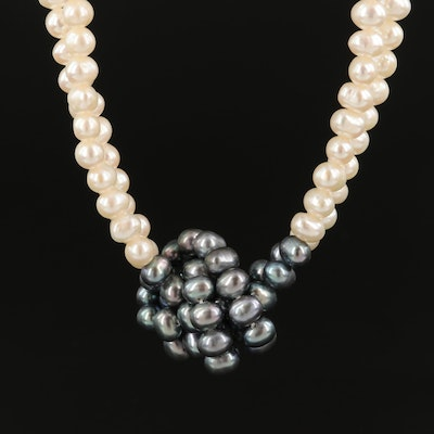 Pearl Double-Strand Necklace with 14K Clasp