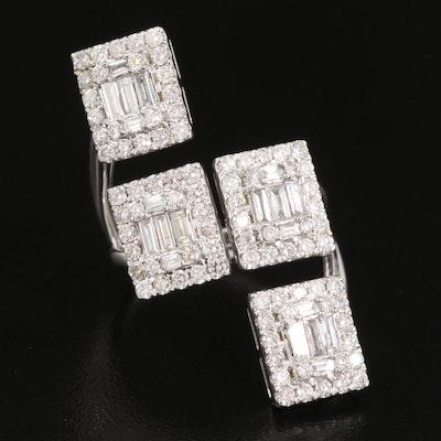 14K 2.30 CTW Diamond Pointer Ring