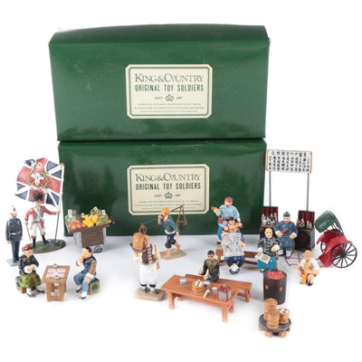 """King & Country """"Original Toy Soldiers"""" Hand-Painted Metal Figurines"""