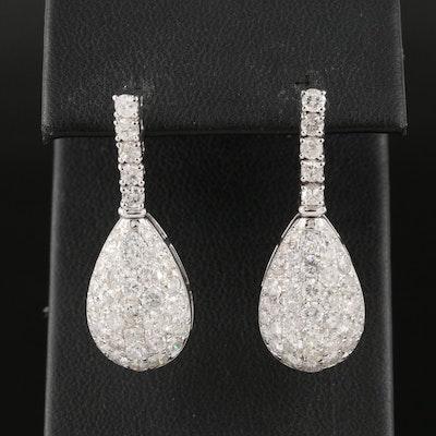 14K 3.56 CTW Pavé Diamond Drop Earrings