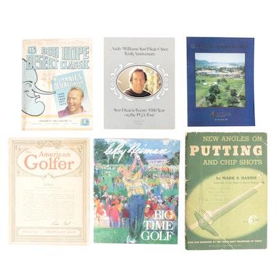 "Signed ""LeRoy Neiman Big-Time Golf"" with COA, and PGA Tournament Programs"