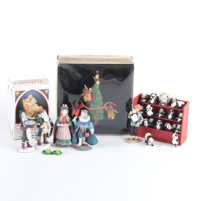Hand-Painted Cast Metal Christmas Figurines and More