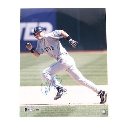 Ichiro Suzuki Signed Seattle Mariners Major League Baseball Action Print, COA