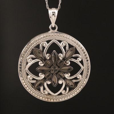 10K Quatrefoil Pendant Necklace