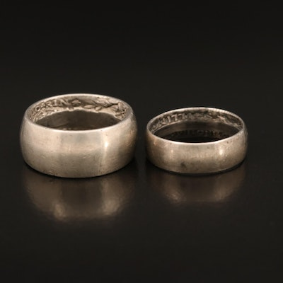 1941 and 1942 George VI Australian Florin Coin Rings