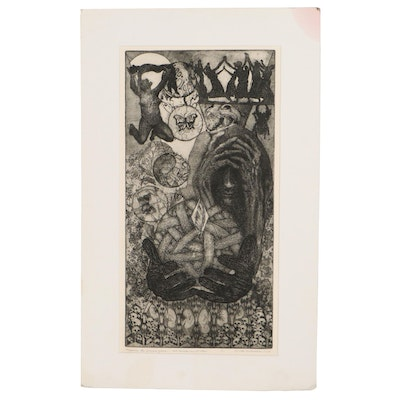 Judith Anderson Etching, 1986