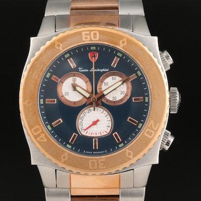 Tonino Lamborghini Two-Tone Stainless Steel Chronograph Wristwatch