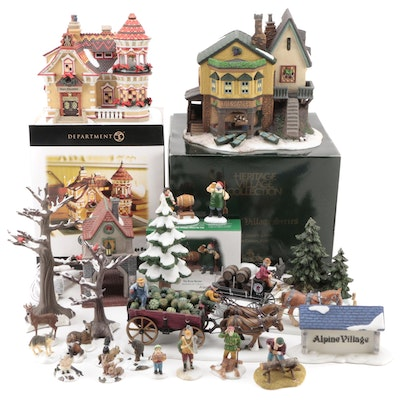Department 56 Dickens' Village Porcelain Buildings with Other Figurines and More